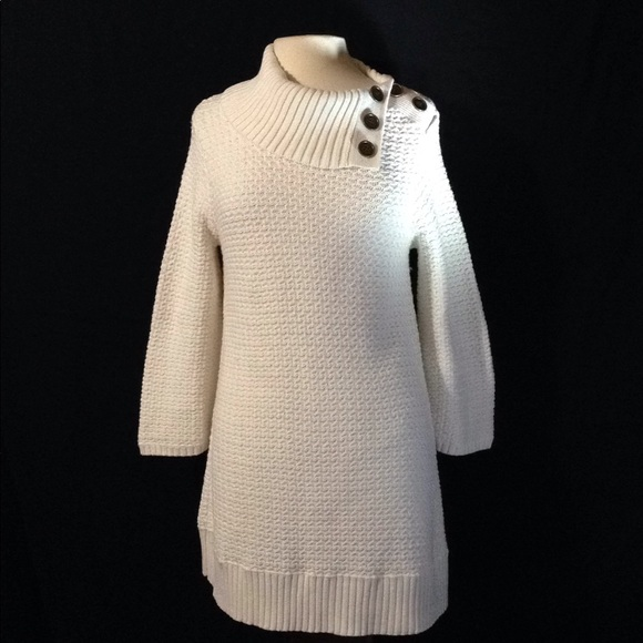 Style & Co Sweaters - Style & Co. Button Cowl Neck Knit Tunic Sweater